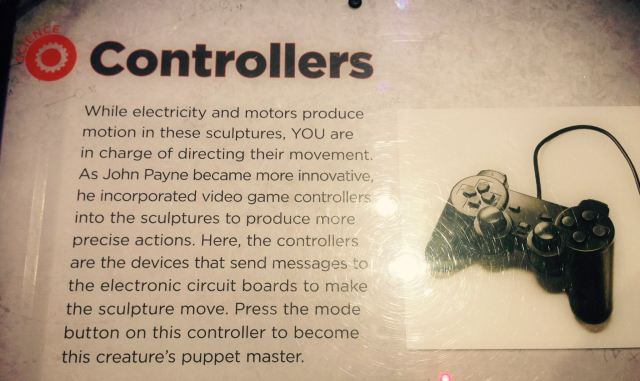 Explanation of Payne's innovative incorporation of controllers for movement of his dinosaurs