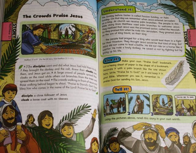 A sample page from The Catholic Children's Bible (St. Mary's Press)