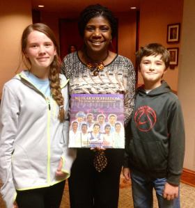 Two of my children with author Kimberly P. Johnson, author of No Fear For Freedom